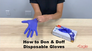 How to correctly Don & Doff disposable Gloves Video