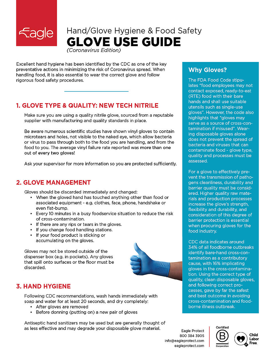 Glove Use Guide - Coronavirus Edition